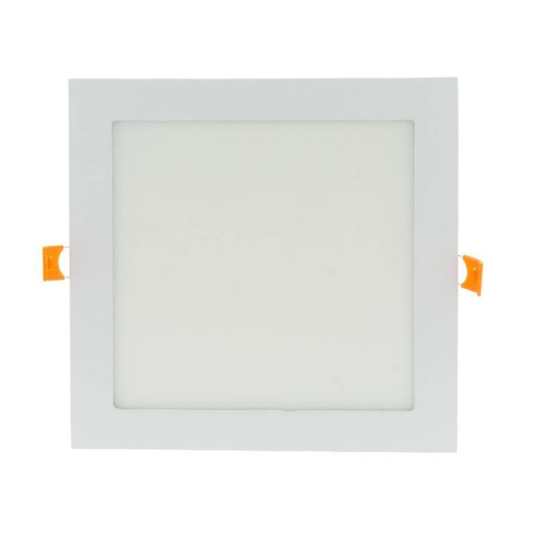 Placa downlight LED encastrável quadrada 18W - 5 anos de garantia