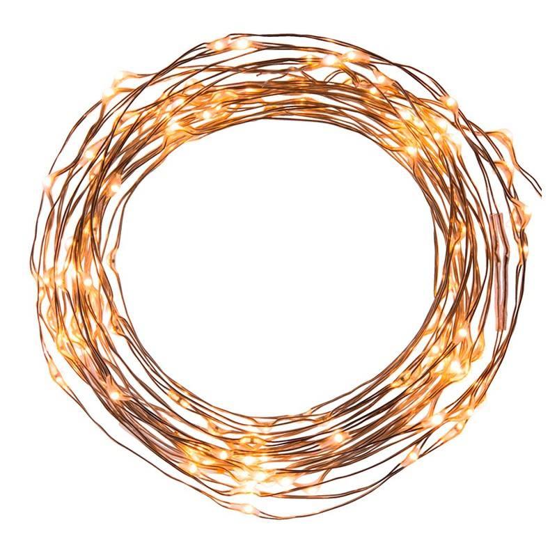 """Grinalda LED """"FAIRY LIGHT"""" de arame de cobre """"luz de fadas"""" 6V (10m)"""