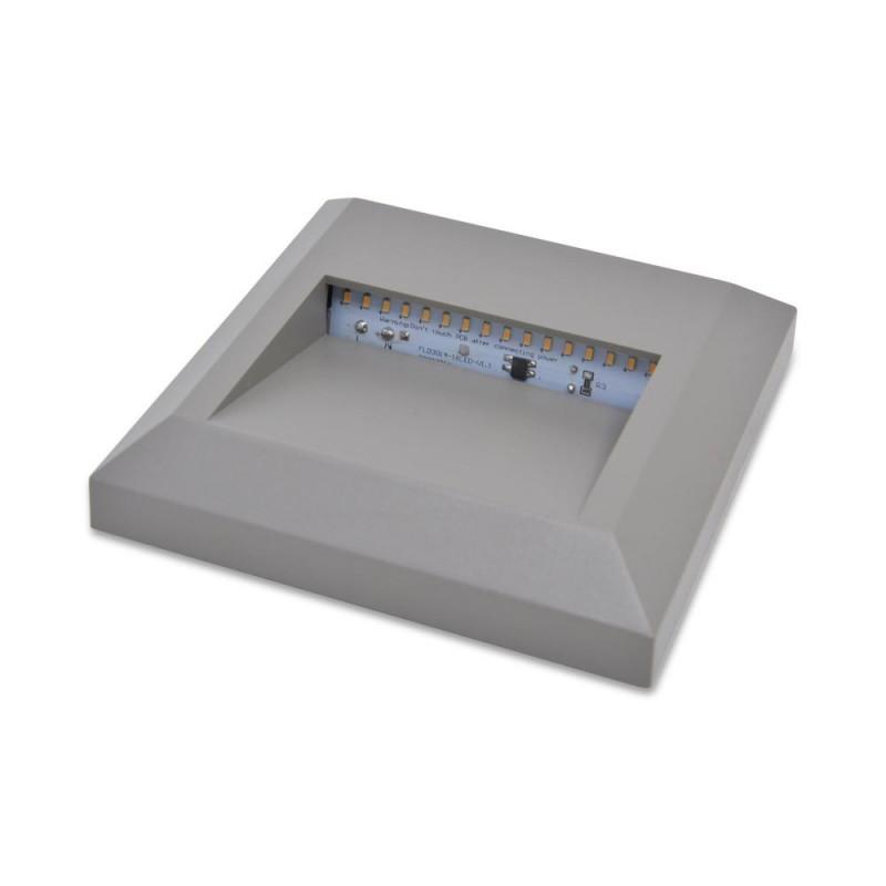 """Baliza LED quadrada para superfície exterior """"SILVER"""" 2W IP65"""