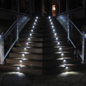 "Baliza circular LED de superficie exterior ""SILVER"" 2W IP65"