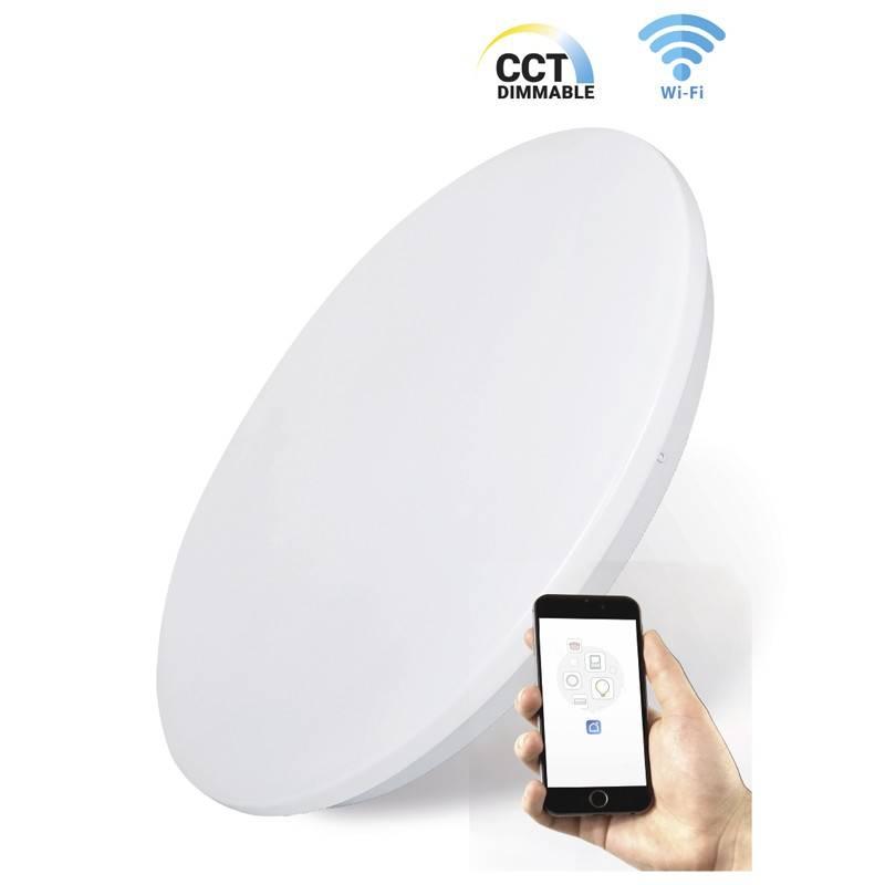 Plafón LED SMART de superfície 24W 2040lm CCT WIFI ligação IP20