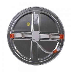 Placa downlight LED circular encastrável e ajustável 20W